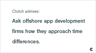 As offshore app development firms how they approach time differences.