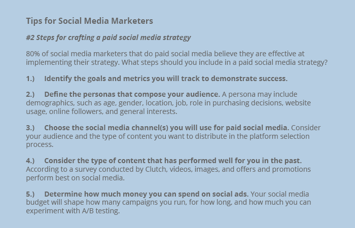 Tips for social media marketers #2 - Clutch's SMM Survey 2016