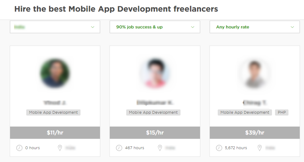 "Upwork ""Hire the best Mobile App Development freelancers"""