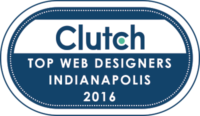 top web designers Indianapolis Clutch badge