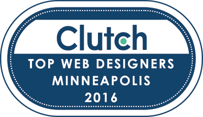 top web designers Minneapolis Clutch badge