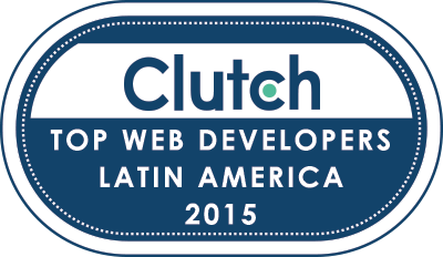 Clutch Badge - Top Web Developers Latin America 2015