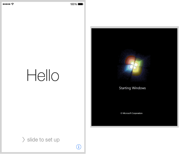 iphone windows start screens