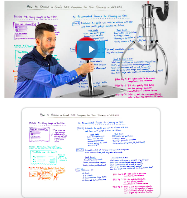 Moz Whiteboard Friday How to Select an SEO Company